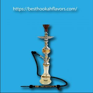 "Khalil Mamoon General Tri-Metal Hookah 32"" Single Hose Hookah"