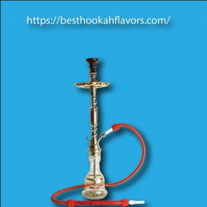 "Khalil Mamoon Pharonie Oxidized Tri-Metal Hookah 33"" Single Hose Hookah + Free 1 Flavor"