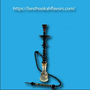 "Khalil Mamoon Black Shareef Hookah 34"" Single Hose Hookah (Black)"